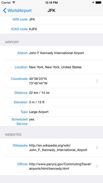 WorldAirport iPhone Screenshot 3