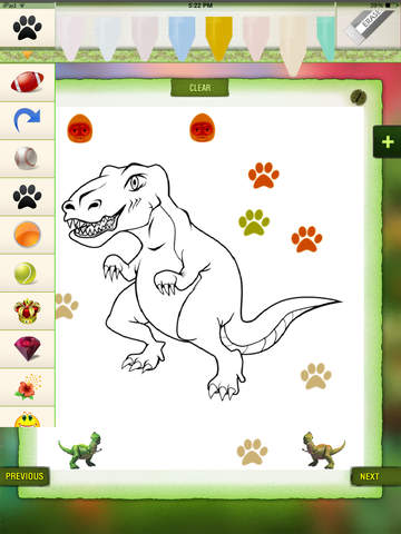 Toddler Dinosaur Coloring Book - Dino Color Fun for Kids