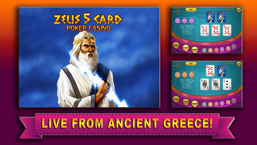 Aaaah Zeus 5 Card Poker Casino - myVegas HD Video Slots Jackpot Pro