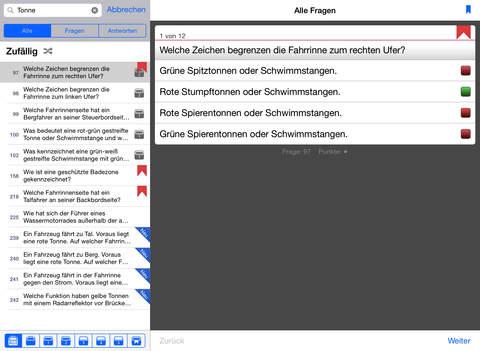 Sportbootführerschein Binnen iPad Screenshot 3
