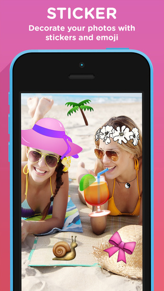 玩攝影App|Smackback - Sticker your selfie免費|APP試玩