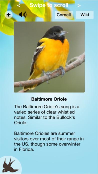 Chirp! Bird Songs USA iPhone Screenshot 1