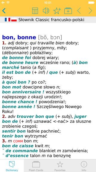 Słownik CLASSIC polsko francuski