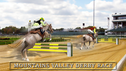 Horse Racing Simulator 3D - Real Jockey Riding Simulation Game on Mountains Derby Track