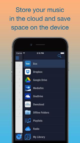 CloudBeats Lite - Cloud Music Player from Dropbox Onedrive Box Google Drive Mediafire ownCloud