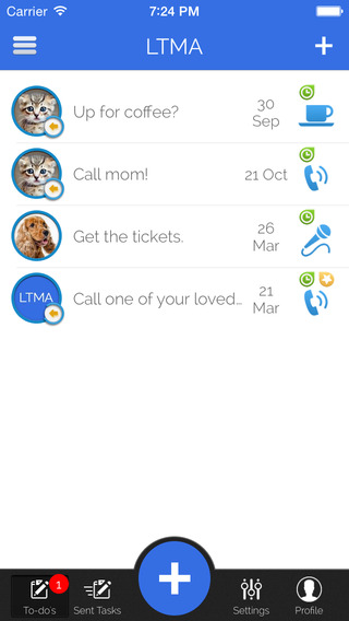 LTMA - Your daily interactive task messenger