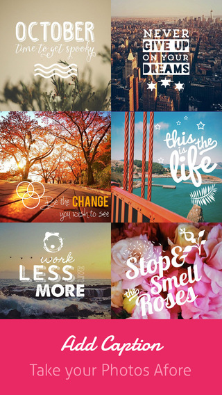 Caption Free - Typography Photo Editor add cool font text on your image