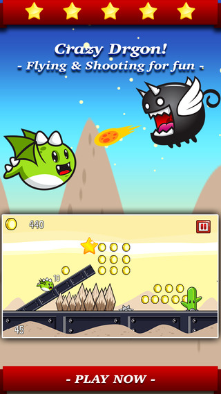 Aaron Dragon Hunter - Tap the flying dash to line up in sky and fight with epic enemies