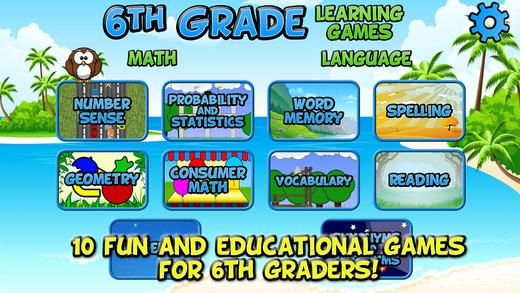 Sixth Grade Learning Games School Edition