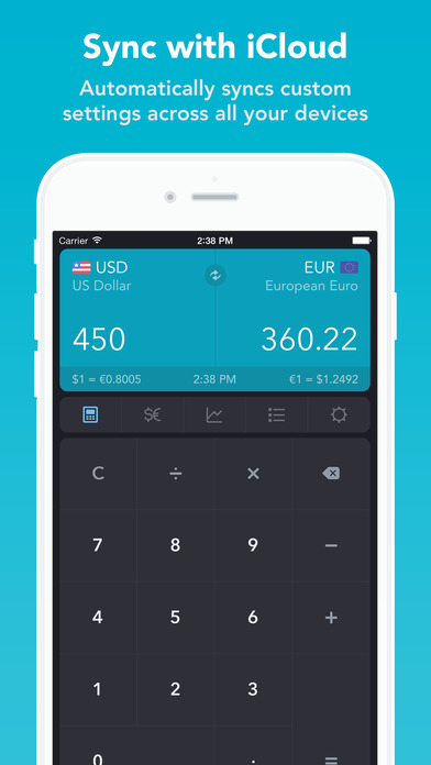 iCurrency Pad ~ The Currency Exchange Rates Converter iPhone Screenshot 5