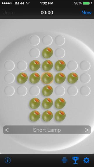 OnePeg (Peg solitaire) iPhone Screenshot 2