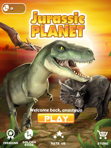 Jurassic Planet - Free Running Game for Kids who like T-Rex, Dinosaurs, Animals & Predatorsscreeshot 1