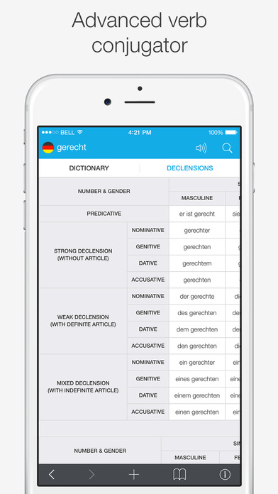 Translations: German - English Dictionary Screenshots