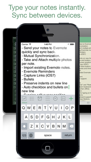 SnapWriter - take notes diary journal integrates with Evernote