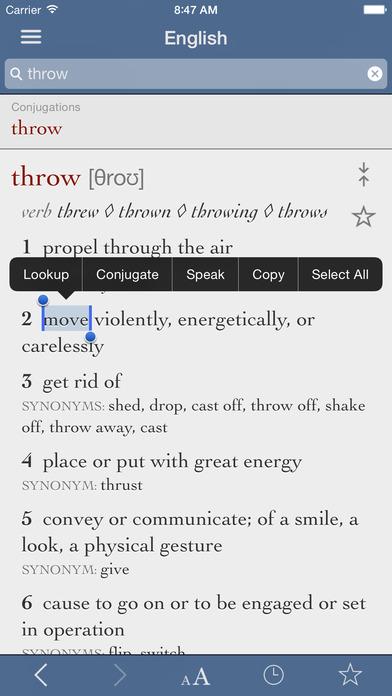 English Dictionary & Thesaurus by Ultralingua iPhone Screenshot 1