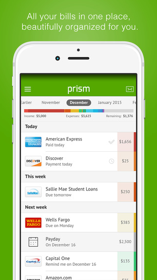 Prism Bill Pay - Pay bills for free