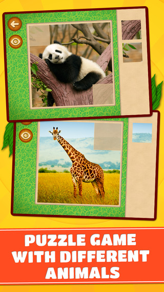Animals of the World Puzzles – Logic Game for Toddlers Preschool Kids Little Boys and Girls - Free