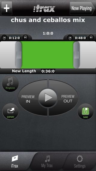 iTrax Free - Music Shortener and Ringtone Maker Screenshot