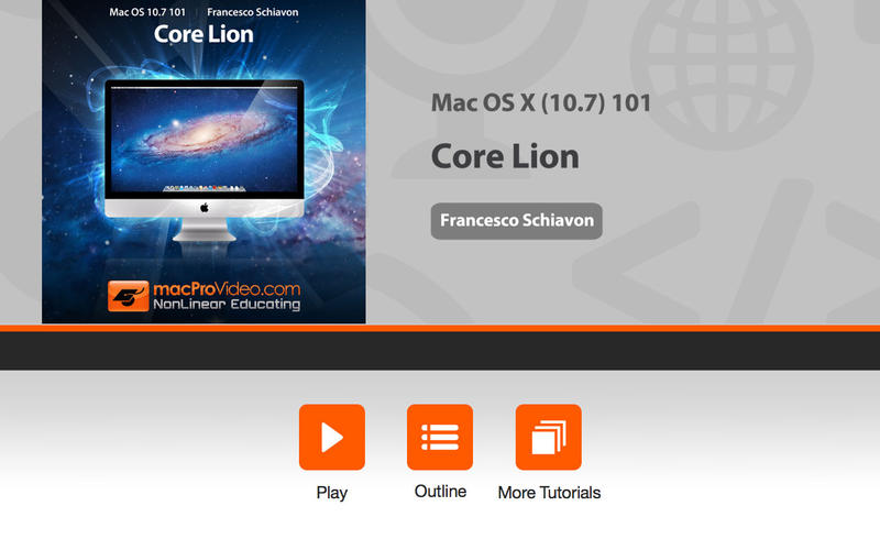 Course For Mac OS X (10.7) 101 - Core Lion for Mac