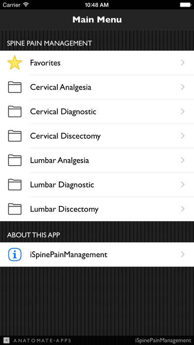 iSpinePainManagement iPhone Screenshot 1
