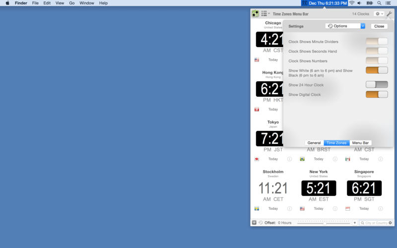 Time Zones Menu Bar Screenshot - 4