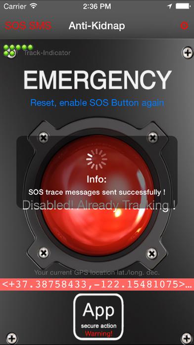 anti-kidnap iPhone Screenshot 2