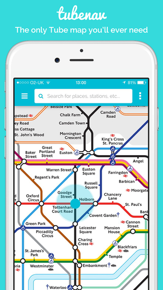 Tubenav - London Interactive Tube Map