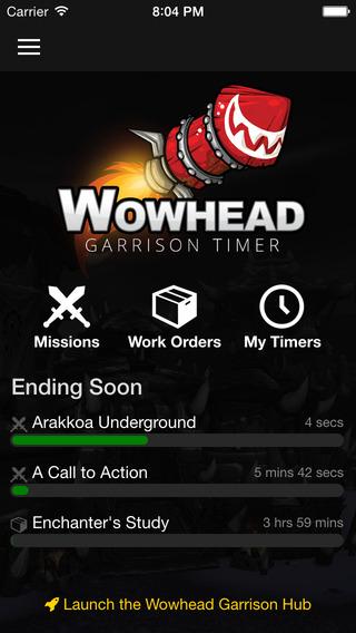 Wowhead Garrison Timer