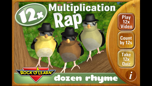 Multiplication Rap 12x