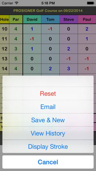 myGolfCard - The Simplest Golf Scorecard iPhone Screenshot 3