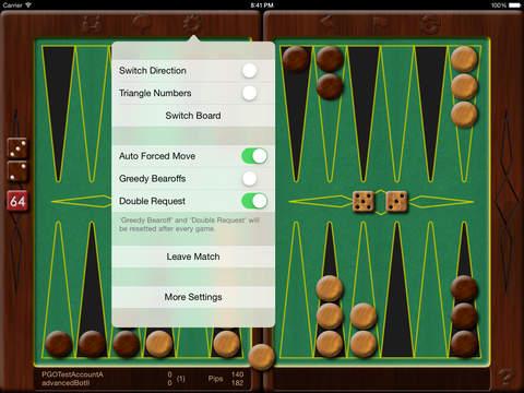 Backgammon Online 2 iPad Screenshot 2