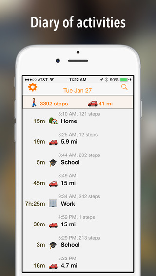 GPSPlus - Automatic mileage tracker and work hour logger for irs tax deduction