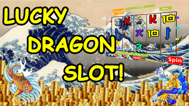 Water Dragons from China and Japan of Lucky Las Vegas Casino Slot Poker Fruit Machine