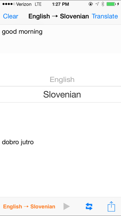 English Slovenian Translator iPhone Screenshot 2