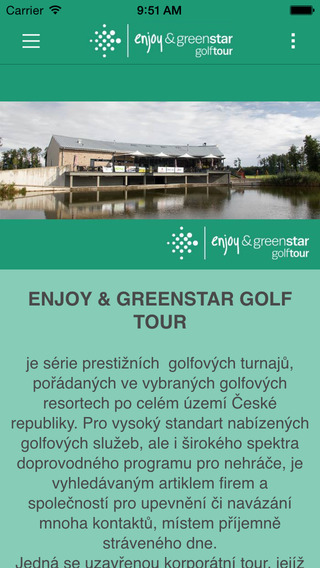 Enjoy Greenstar golf tour