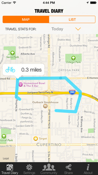 WeCycle - Make cycling safer by showing transport planners where you bike whatever your moves or tra