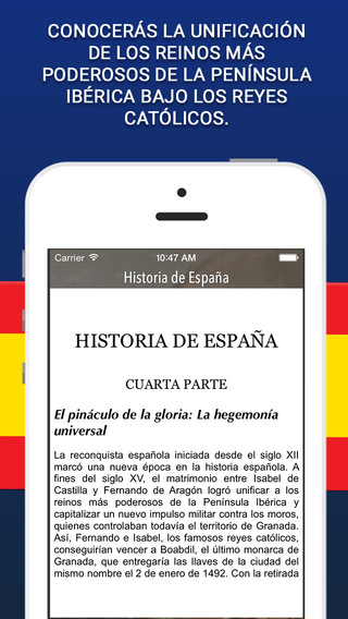 Historia de España - 4ta Parte iPhone Screenshot 1