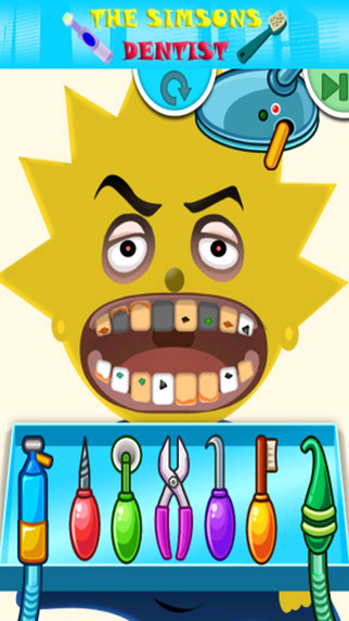 Kids Dentist Game The Simpsons Edition
