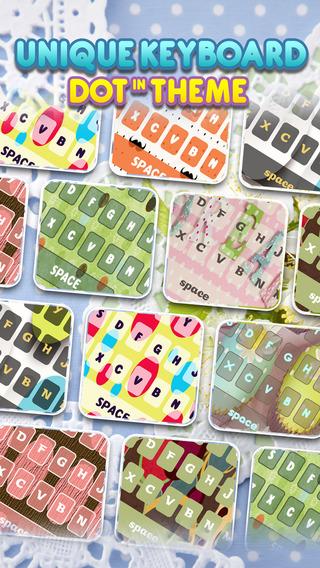 KeyCCM – Dots : Custom Cute Color Wallpaper Keyboard Design Photo The Circle Themes