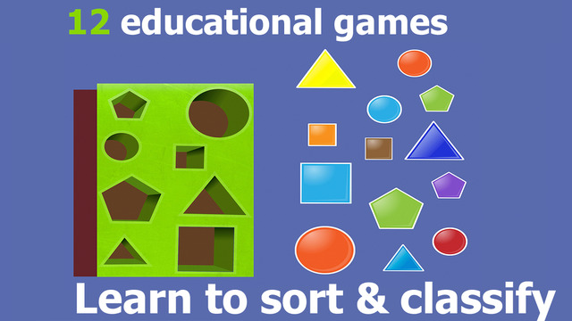 Sorting - colors and figures Educatioonal sorter games for kids 2 3 years