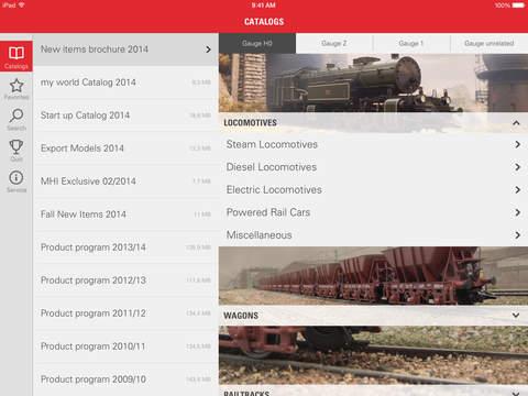 Märklin Product Catalog iPad Screenshot 1
