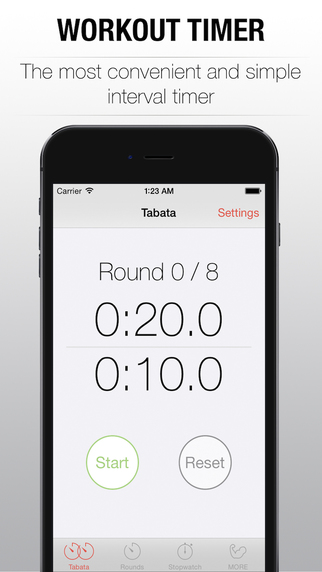 Workout Timer - interval training tabata timer for wod and hiit workout of the day