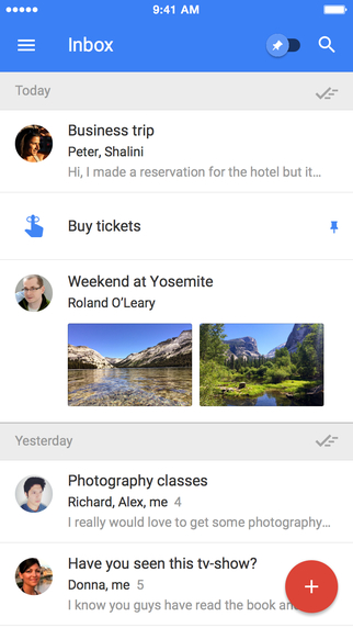 Inbox by Gmail – A new email app that works for you