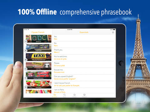 I Speak French : Offline phrasebook for travel and language learning! Screenshots
