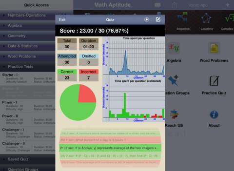 PRAXIS Math Aptitude iPad Screenshot 3