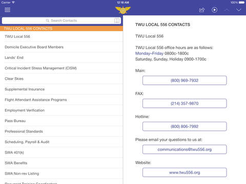 SkyConnect TWU556 iPad Screenshot 2