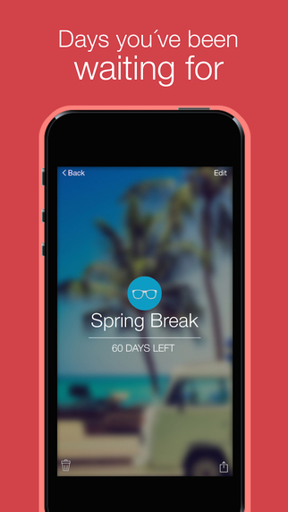 Days Left - event countdown app for iPhone Screenshots