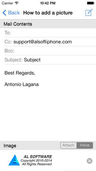 iQuickMail iPhone Screenshot 4