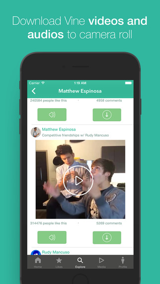 SaveDrive - Video and Audio Sounds Download for Vine