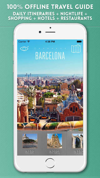Barcelona Travel Guide with Offline City Street and Metro Maps